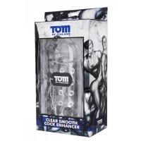 Увеличивающая насадка на пенис с кольцом для мошонки - Tom of Finland - 14 см