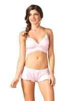 Нежный розовый комплект Leg Avenue